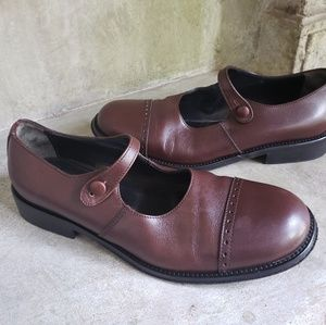 BARNEYs leather mary janes 5.5/6